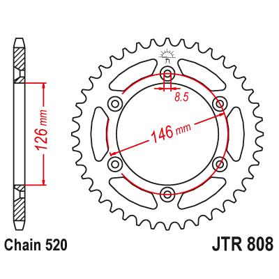 Rozeta JT Sprockets JTR808 48z.