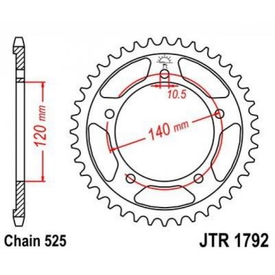 Rozeta JT Sprockets JTR1792 47z.