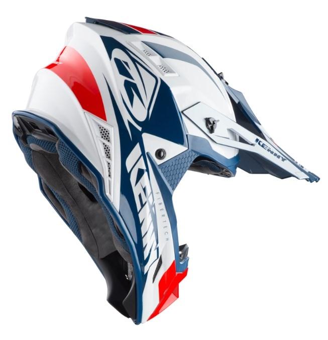 c8ad0424440af Prilba KENNY Trophy 2019 - bielo červeno modrá | MOTOMIX