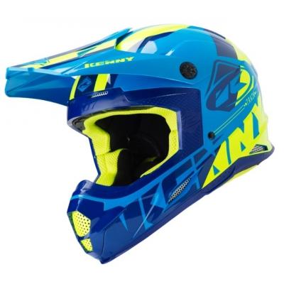 Prilba KENNY Track 2019 - modro žltá neon