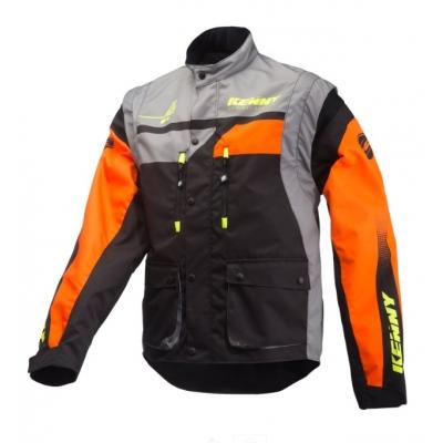 Bunda KENNY Track 2019 - sivo čierno oranžová