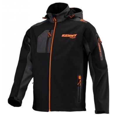 Bunda Kenny Racing Softshell 2020 čierno sivo oranžová