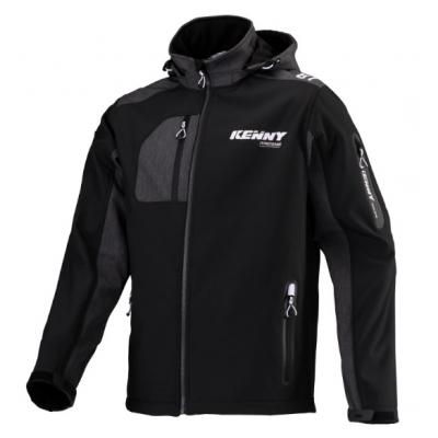 Bunda Kenny Racing Softshell 2020 čierno sivo biela
