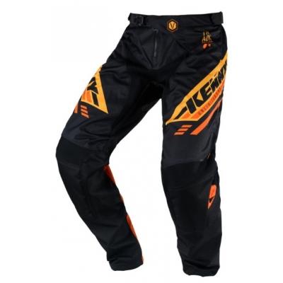 Nohavice Kenny Track Victory 2020 - čierna oranžová