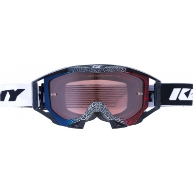 Okuliare Kenny Titanium Granit 2017 - modrá biela červená
