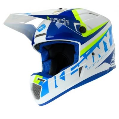 Prilba KENNY Track Focus 2020 - modrá neon žltá