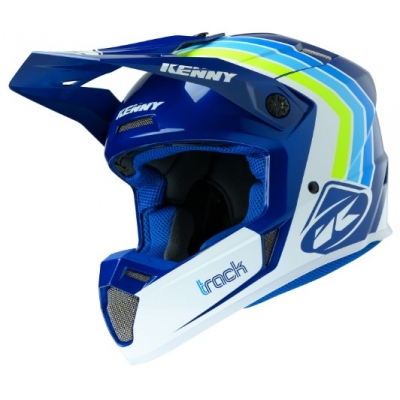Prilba KENNY Track Victory 2020 - biela modrá