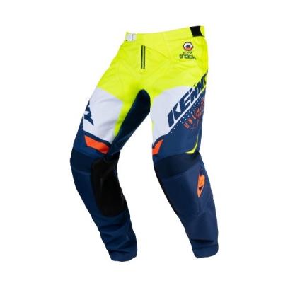 Detské nohavice KENNY TRACK 2021,modro-neónovo-žlté