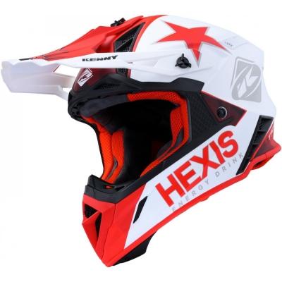 Prilba KENNY TROPHY HEXIS 2020 , červeno-biela