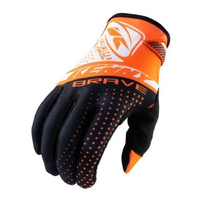 Detské rukavice KENNY BRAVE 2021, oranžové
