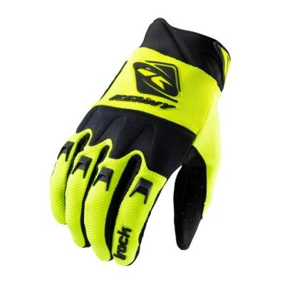 Detské rukavice KENNY TRACK 2021, čierno-žlto neónové