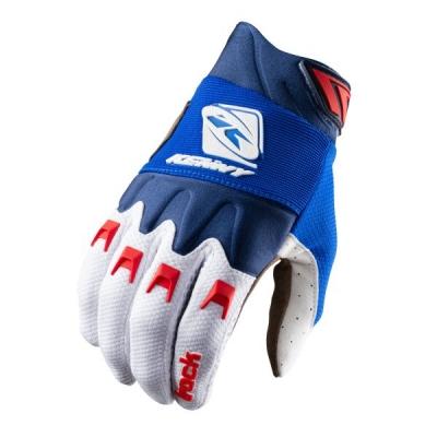 Detské rukavice KENNY TRACK 2021, modro-bielo-červené