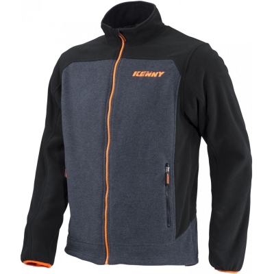 Bunda KENNY racing fleece, čierno-sivá