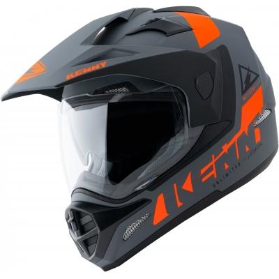 Prilba KENNY EXTREME 2021, matná sivo-oranžová