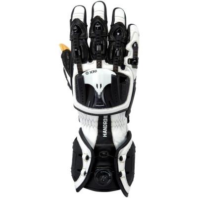 Rukavice Knox Handroid čierno-biele, na motorku