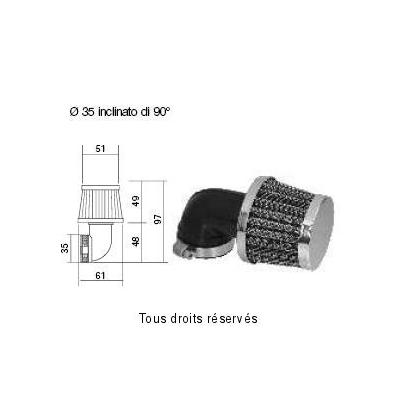 Tuningový vzduchový filter Ø35 l97, 98FR12