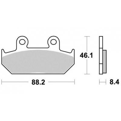 Brzdové doštičky KYOTO S1005B