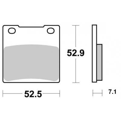 Brzdové doštičky KYOTO S1009A