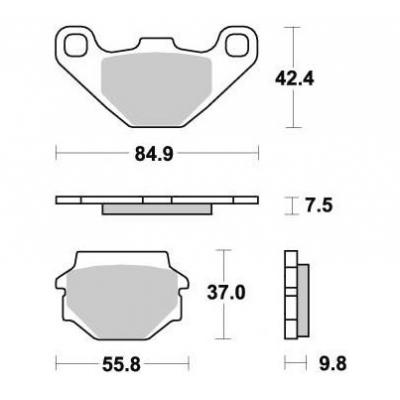 Brzdové doštičky KYOTO S1031