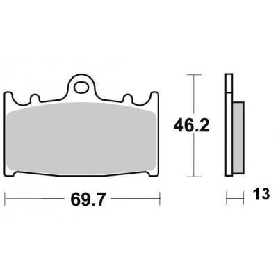 Brzdové doštičky KYOTO S1032B
