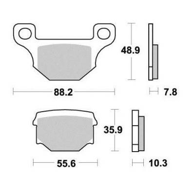 Brzdové doštičky KYOTO S1055