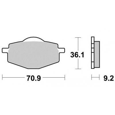 Brzdové doštičky KYOTO S1081