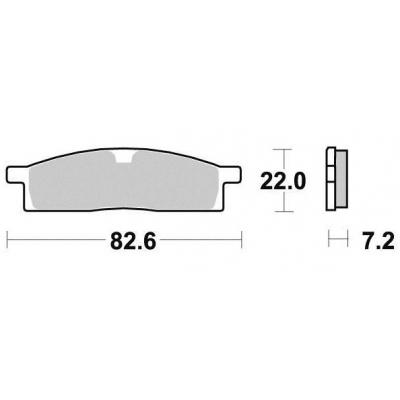 Brzdové doštičky KYOTO S1095