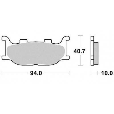 Brzdové doštičky KYOTO S1109