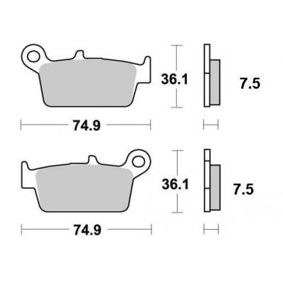Brzdové doštičky KYOTO S1114