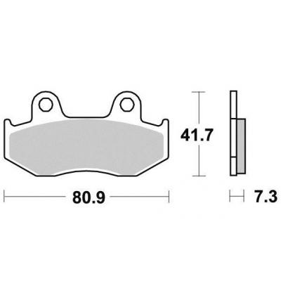 Brzdové doštičky KYOTO S1115