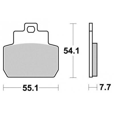 Brzdové doštičky KYOTO S1122