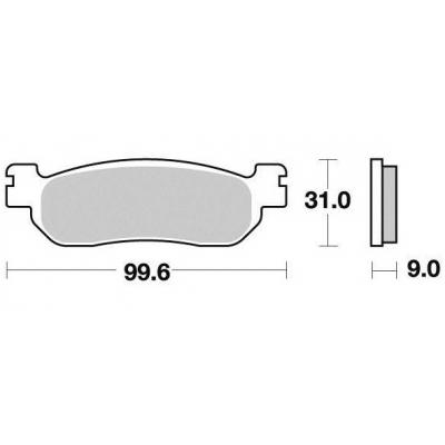 Brzdové doštičky KYOTO S1263