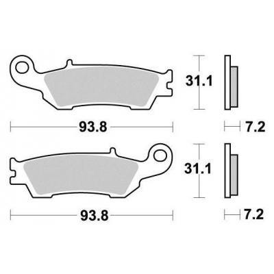 Brzdové doštičky KYOTO S1290