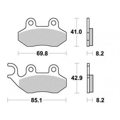 Brzdové doštičky KYOTO S1801