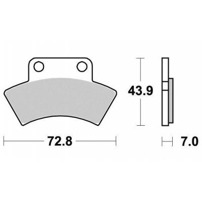 Brzdové doštičky KYOTO S1950N