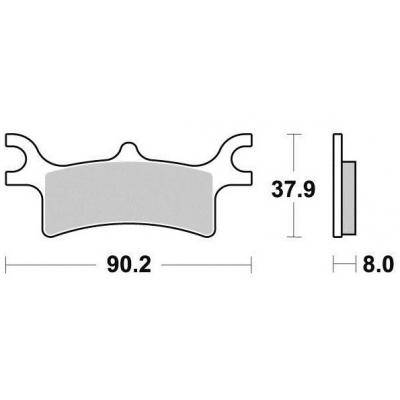 Brzdové doštičky KYOTO S1992