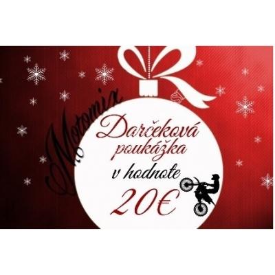 Vianočná poukážka na nákup v hodnote 20€