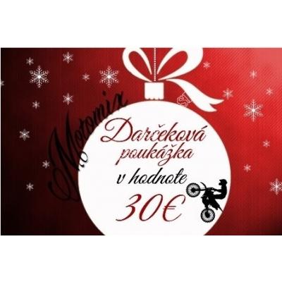Vianočná poukážka na nákup v hodnote 30€