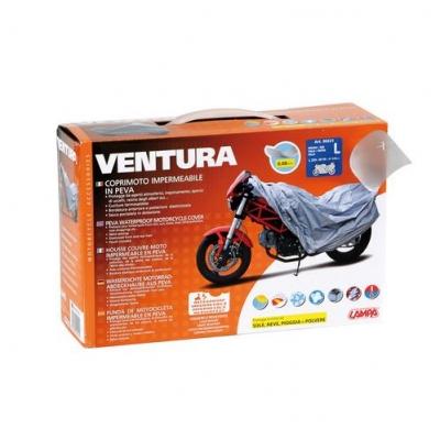 Plachta na moto Ventura sivá L