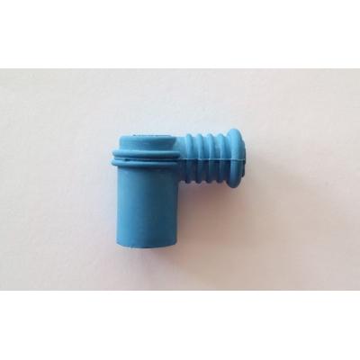 Fajka na sviečku 90° modrá - gumená