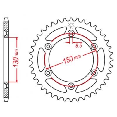 Rozeta M-Cax 49z. - Yamaha YZ/YZF - rovnaká ako JTR251