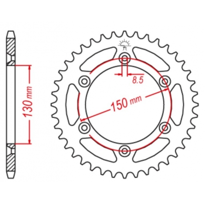Rozeta hliníková M-Cax 50z. - Yamaha WR/YZ/YZF - rovnaká ako JTR251