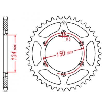 Rozeta hliníková M-Cax 50z. - Kawasaki KX,KXF,KDX, KLX - rovnaká ako JTR460