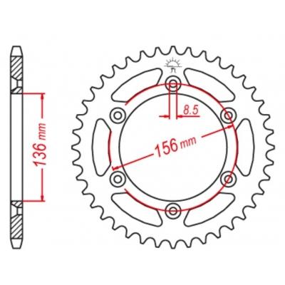 Rozeta M-Cax 48z. - Beta/GasGas/Husq - kompat. s JTR822