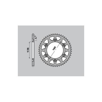 Rozeta hliníková M-Cax 48z. - VOR/Beta - kompat. s PBR4468
