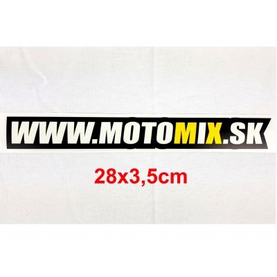 Nálepka www.motomix.sk 28cm