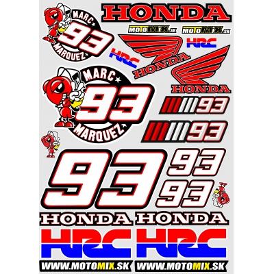 Nálepky Honda 93 A3