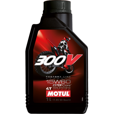 Motul 4T 300V factory line 15W-60 off road 1L, do motorky