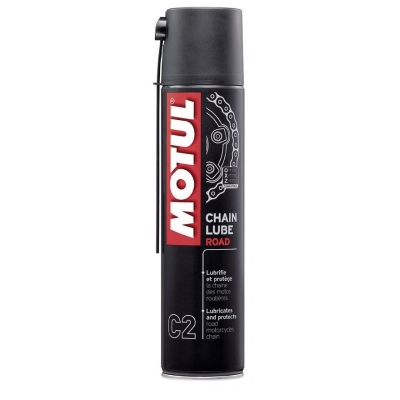 Motul C2 Chain Lube Road 400ml, na motorku