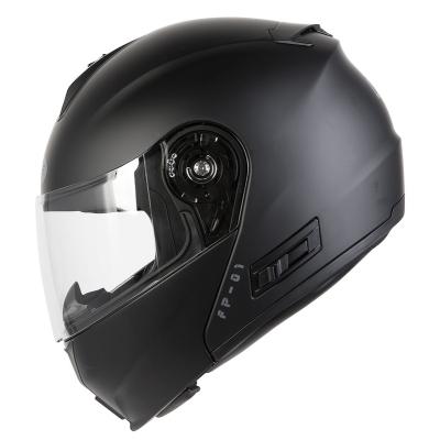 Prilba Ozone FP-01 čierna matná, na motorku